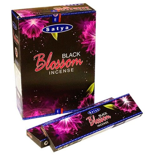 Благовония Чёрный цветок Сатья (Satya Black Blossom)