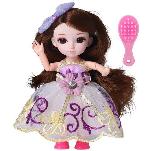 Кукла шарнирная Funky Toys Малышка Лили, брюнетка, с расческой, 16 см (FT72002)