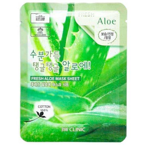 Фото - Маска для лица 3W CLINIC с экстрактом алоэ - Fresh Aloe Mask Sheet, 23 мл 3w clinic тканевая маска с экстрактом алоэ 23 мл