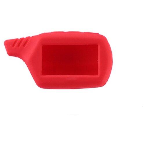 Чехол силиконовый Старлайн подходит для брелока ( пульта ) автосигнализации Starline B6 / B9 / A61 / A91 (Цвет красный)