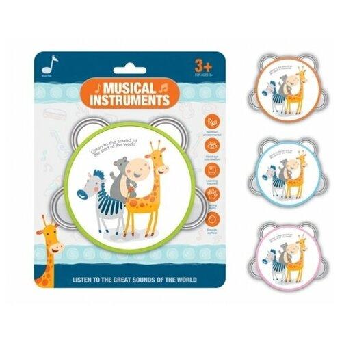 Купить Бубен Музыкальные друзья , Рыжий кот, Детские музыкальные инструменты