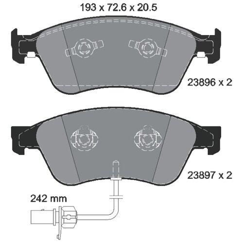 Фото - Дисковые тормозные колодки передние Textar 2389601 для Audi A8, Volkswagen Phaeton (4 шт.) дисковые тормозные колодки передние ferodo fdb1832 для audi a6 audi a8 volkswagen phaeton 4 шт