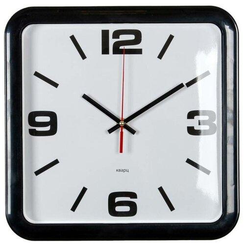 Часы настенные аналоговые Бюрократ WALLC-S90P, диаметр 29 см, черный/белый