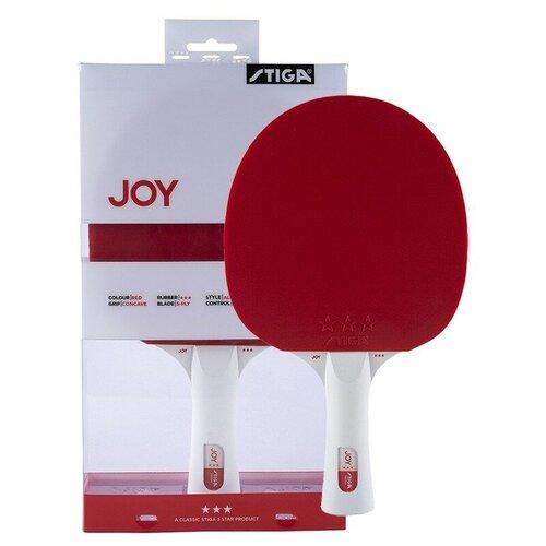 Фото - Ракетка для настольного тенниса Stiga JOY***, накладка 1,9 мм, коническая ручка, арт.189801 stiga control advance арт 1887 01
