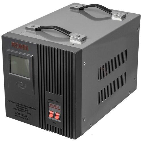 Стабилизатор напряжения РЕСАНТА АСН-3000/1-Ц + цифровой тестер индикатор
