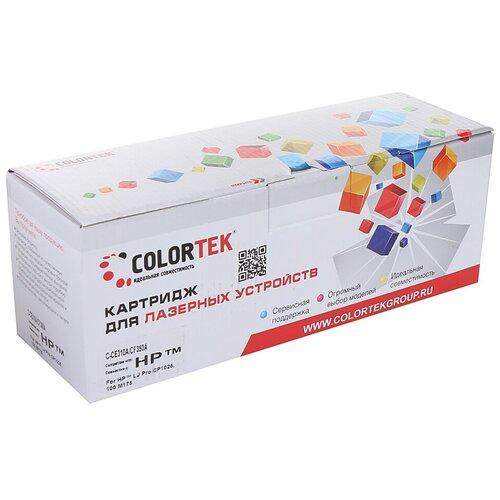 Фото - Картридж Colortek (схожий с HP CE310A/CF350A) Black для HP LaserJet Pro Color M175/M275/CP1020/CP1025/M176/M177 картридж colortek схожий с hp cf351a 130a cyan для hp laserjet pro color cljp m176 m177