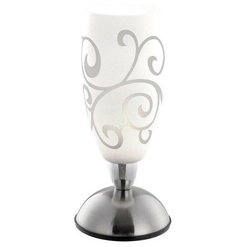 GLOBO LIGHTING Настольная лампа AURIGA 1x40Вт E14 матовый никель 12,5x12,5x28см