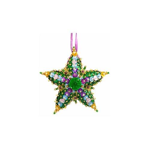 Купить Набор для творчества - елочная игрушка Изумрудная звезда 10 х 10 см * FS-164, ФИЛИГРИС, Изготовление кукол и игрушек