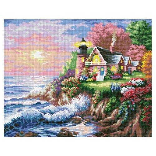 Мозаичная картина на подрамнике Шумный берег