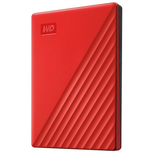 Внешний HDD Western Digital My Passport (WDBYVG/WDBPKJ) 2 TB, красный внешний hdd western digital my passport ultra wdbc3 wdbft 1 tb серебристый