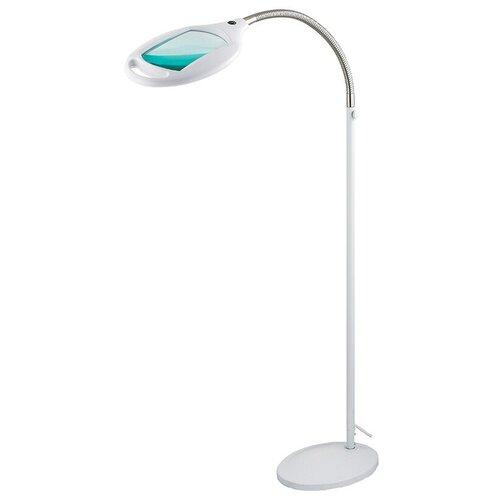 Фото - Лупа напольная REXANT, 3D, с подсветкой 42 LED, белая лупа настольная rexant 5x с подсветкой 90 led black 31 0406