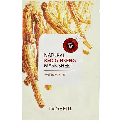 The Saem тканевая маска Natural Red Ginseng, 21 мл the saem тканевая маска zoo