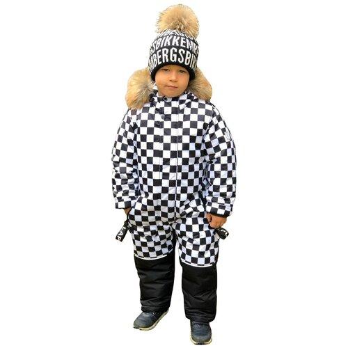 Зимний детский комбинезон Lapland мембрана Квадро размер 98, белый