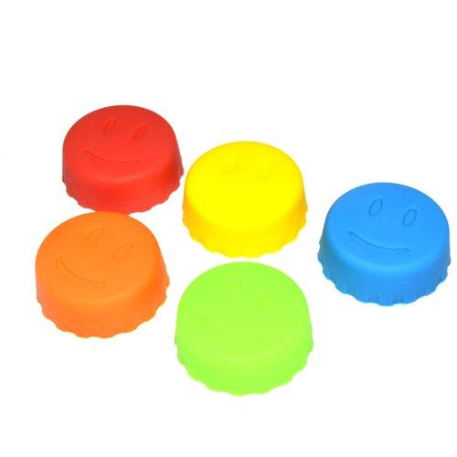 Фото - Пробка DOSH   HOME Irsa 101101 5 шт., красный/синий/желтый/оранжевый/зеленый набор измерительных емкостей dosh home irsa 3 шт 101132