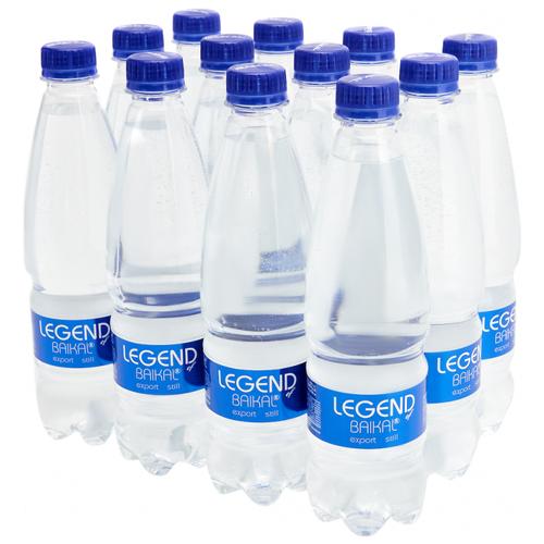 Вода питьевая Legend of Baikal глубинная негазированная, пластик, 12 шт. по 0.5 л