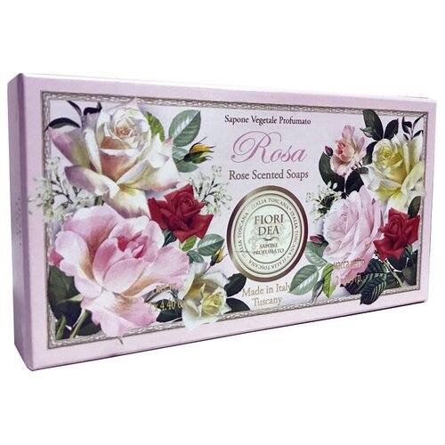 Мыло кусковое Fiori Dea Rose, 2 шт., 125 г fiori dea бальзам для губ sweet