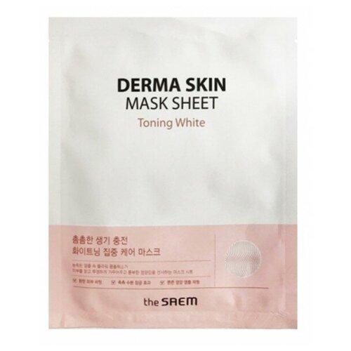 Тканевая маска для лица The Saem Derma Skin Mask Sheet (Toning White) the saem тканевая маска zoo