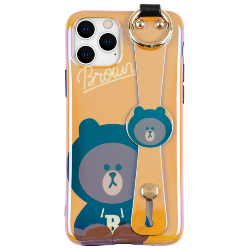 Чехол для iPhone 11 Pro Max Brown из серии Line Friends, Shine Orange