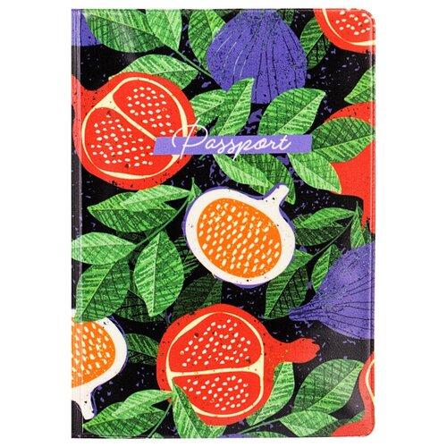 Обложка для паспорта MESHU Sweet life, черный/зеленый/красный