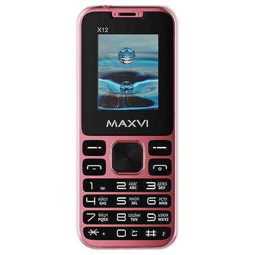 Телефон MAXVI X12 розовое золото