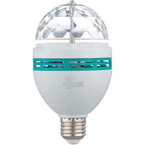 Лампа светодиодная REV Disco RGB, E27, A60, 3Вт