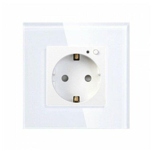 HIPER Smart wall socket/Умная встраиваемая розетка/1 модуль/Wi-Fi/AC 100-250В/10А/50-60 Гц/2500Вт IOT OUTLET W01