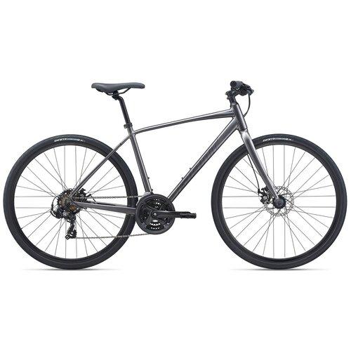 Фото - Городской велосипед Giant Escape 3 Disc (2021) черный 21 (требует финальной сборки) велосипед giant escape 3 disc 2021 металик черный m
