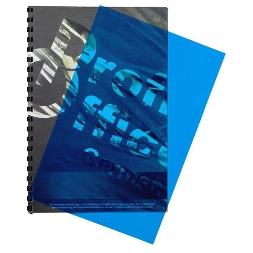 Фото - Обложка ProfiOffice A4 200 мкм глянец синий прозрачный 100 шт. портмоне profioffice mt 48s синий