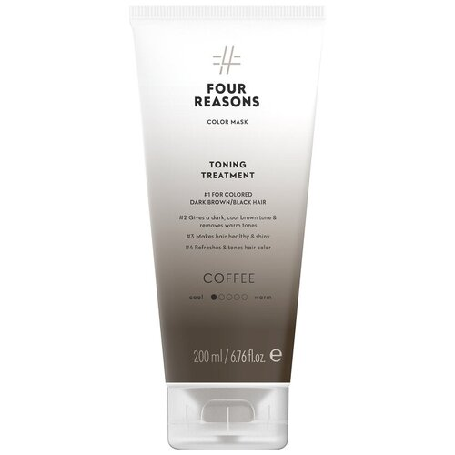 Купить Four Reasons Тонирующая маска для поддержания цвета окрашенных волос Toning Treatment Coffee, 200 мл