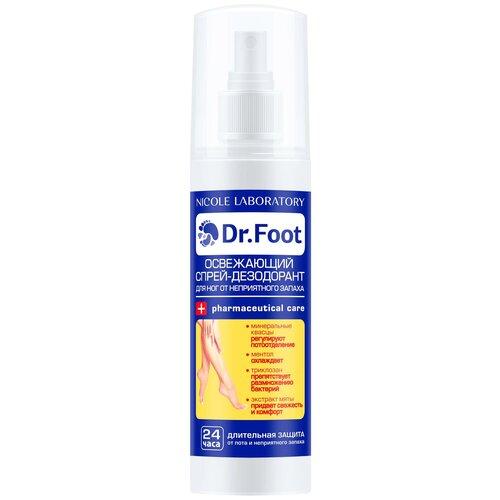 Dr. Foot Освежающий спрей-дезодорант для ног от неприятного запаха 150 мл