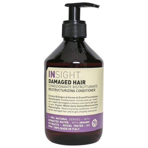 Фото - Insight кондиционер Damaged Hair Restructurizing для поврежденных волос, 400 мл insight кондиционер colored hair защитный для окрашенных волос 400 мл
