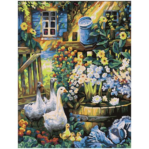 Купить Картина по номерам Палисадник, 70 х 100 см, Красиво Красим, Картины по номерам и контурам