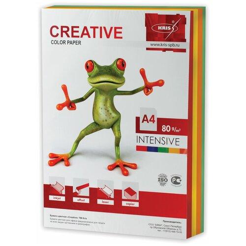 Фото - Бумага Creative A4 Color Intensive 80 г/м² 250 лист., голубой/желтый/зеленый/оранжевый/розовый бумага creative a4 студенческая 80 г м² 100 лист белый
