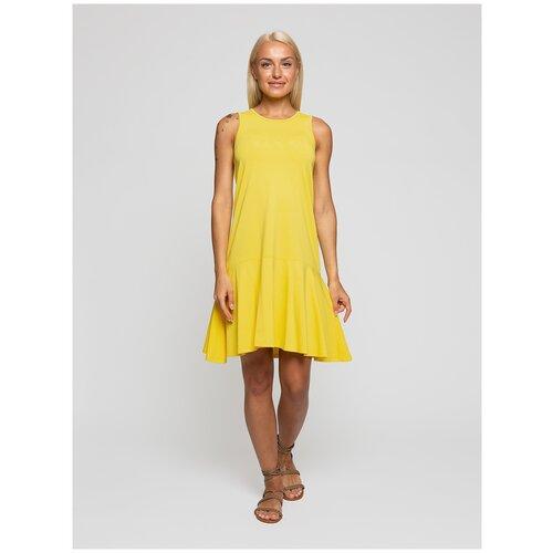 Женское легкое платье сарафан, Lunarable желтое, размер 42
