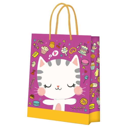 Фото - Пакет подарочный ND Play Кошечка 40.6 x 33.5 x 15.5 см розовый/оранжевый пакет подарочный nd play lol 25 х 35 х 10 см мятный розовый