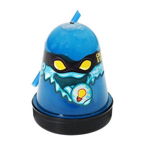 Лизун SLIME Ninja светится в темноте, синий, 130 г (S130-20)