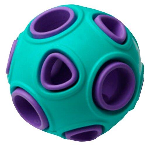 Игрушка для собак Homepet Silver Series мяч каучук бирюзово-фиолетовый 7,5 см (1 шт)