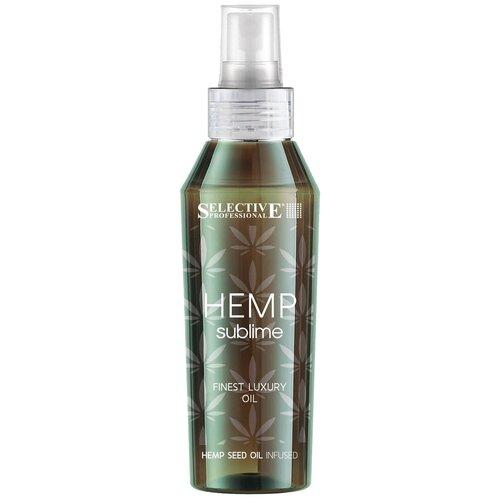 Купить Selective Professional Hemp Sublime Восстанавливающий эликсир для всех типов волос с маслом конопли, 100 мл