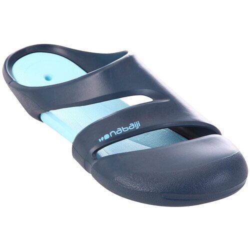 Шлепанцы для бассейна мужские сине-бирюзовые CLOG 500, размер: 44/45, цвет: Синий Графит/Сине-Бирюзовый NABAIJI Х Декатлон