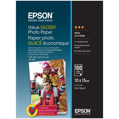 Фото - Бумага Epson A6 Value Glossy Photo Paper 183 г/м² 100 лист. бумага epson a4 premium glossy photo paper c13s041624 255г м2 50 лист белый