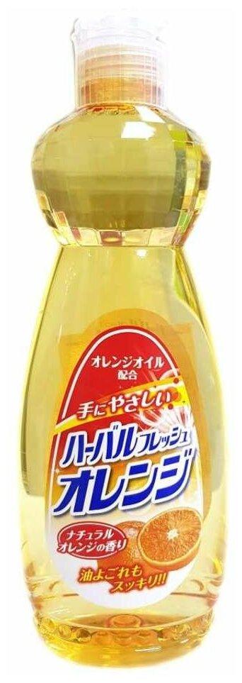 Купить Mitsuei Средство для мытья посуды, овощей и фруктов с ароматом апельсина 600мл по низкой цене с доставкой из Яндекс.Маркета