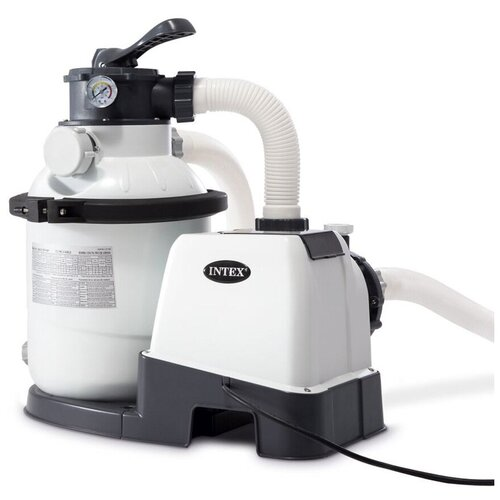 Фильтр-насос Intex 26644 песочный фильтр насос intex 26644 krystal clear 4 5м3 ч резервуар для песка 12кг