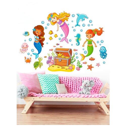 Наклека для стен и мебели Woozzee Сокровище русалок NDS-470-090639
