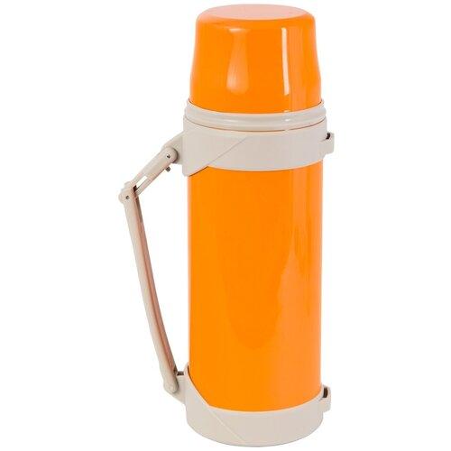 Термос INDIANA Bsx пробка с кнопкой 0.8 л оранжевый