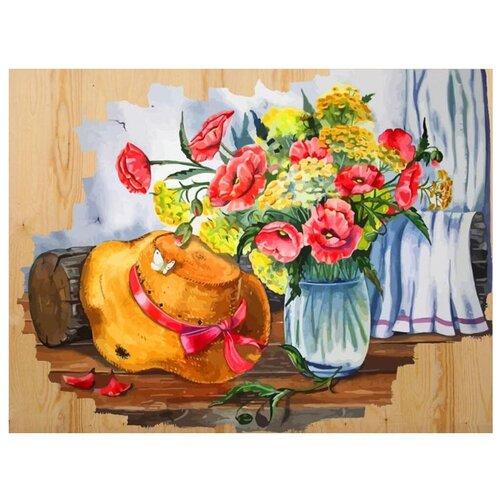 Купить Color Kit Картина по номерам Соломенная шляпка 40х50 см (DER007), Картины по номерам и контурам