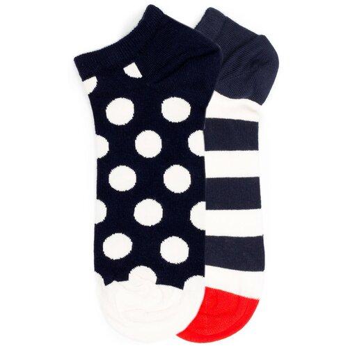 Комплект коротких носков Happy Socks с узором из горошин и полос Happy Socks 2 Pack - Low - Dots and Stripes 36-40