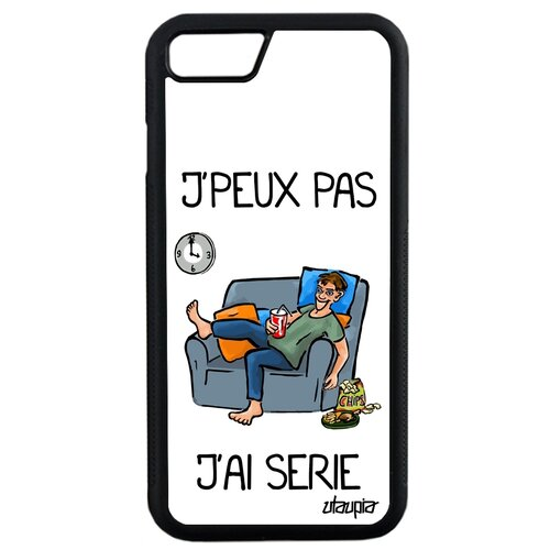 "Чехол на смартфон Apple iPhone SE 2020, ""Не могу - у меня сериал!"" Комикс Карикатура"