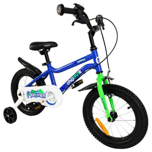 детский велосипед yibeigi v 14 синий Детский велосипед Royal Baby Chipmunk MK 14 синий (требует финальной сборки)