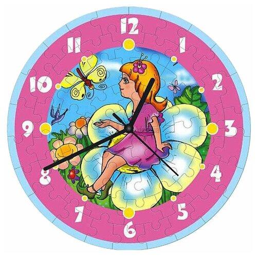 Купить Часы-пазл Умная Бумага Часы Дюймовочка (126-04), 61 дет., Пазлы