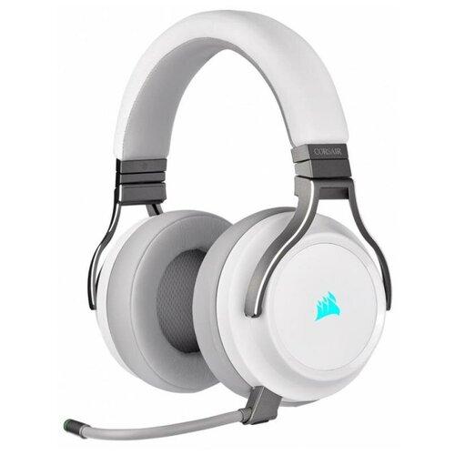 Фото - Игровая гарнитура Corsair Gaming™ Virtuoso RGB Wireless High-Fidelity Gaming Headset (White) компьютерная гарнитура corsair hs50 pro stereo gaming headset черный матовый